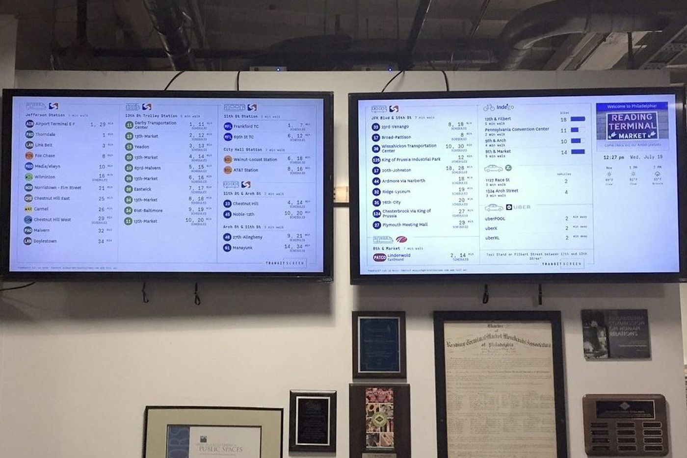 Real-time transit info now available at Reading Terminal Market