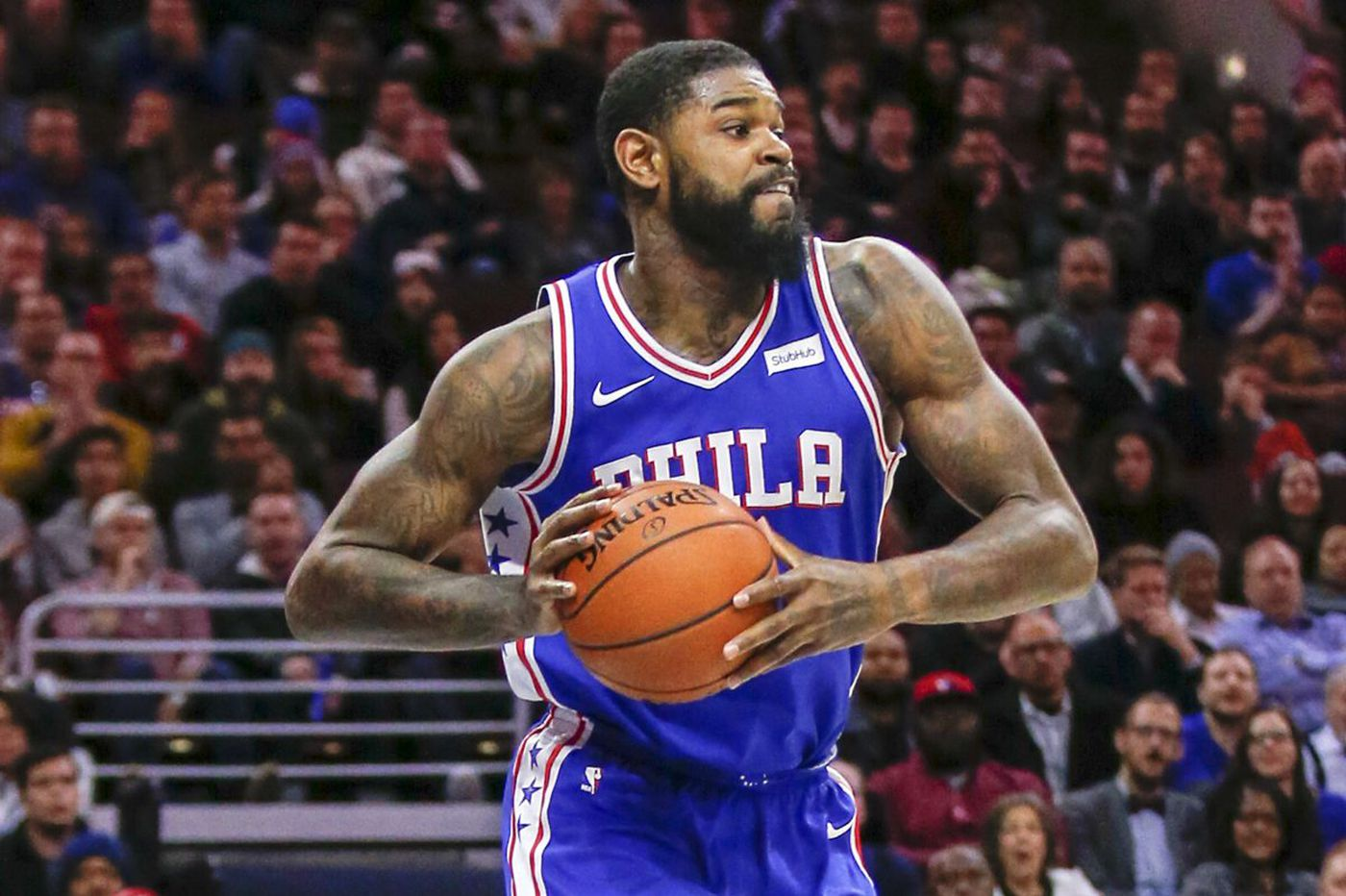 Amir Johnson, starting in place of Joel Embiid, focusing on defense heading into NBA playoffs