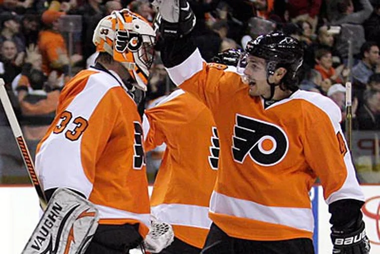 The Flyers are currently fourth in the Eastern Conference and second in their division. (Yong Kim/Staff Photographer)