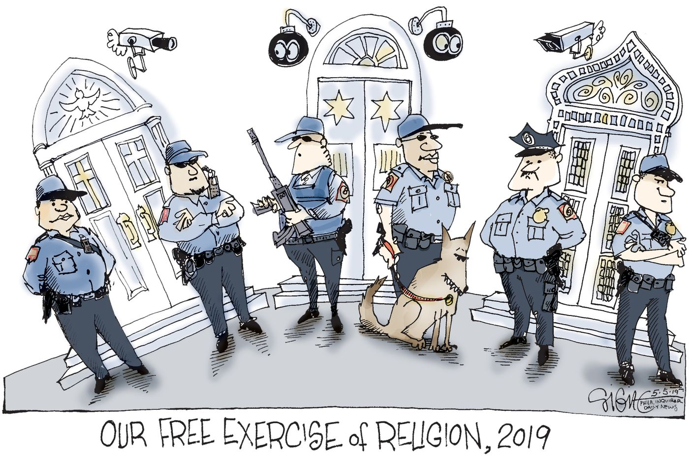 Political Cartoon: Our freedom of religion