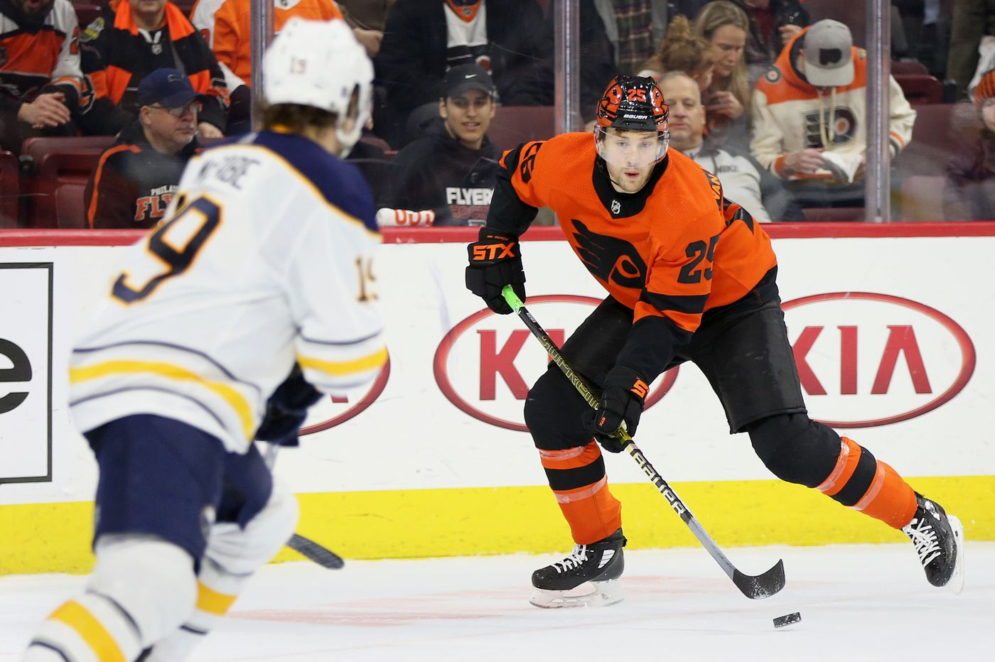 After slow, injury-hindered start, James van Riemsdyk carrying Flyers' scoring load