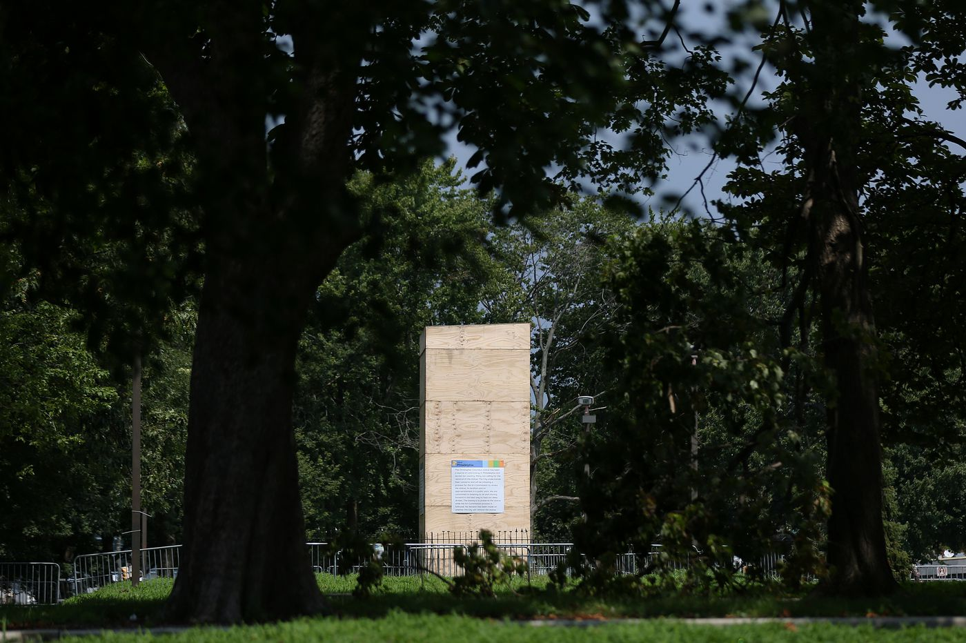 Plans to move Columbus statue to temporary storage get Art Commission approval, but judge orders stay