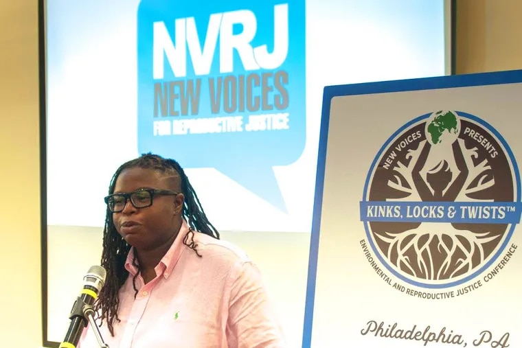 La'Tasha Mayes at the Kinks, Locks, and Twists conference, which gathers women, gender non-conforming and trans people of color and allies to explore health and well-being. Black women, Mayes writes, face severe disparities in access to reproductive care.