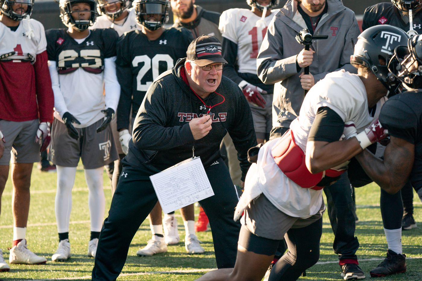 Temple football team feels much better prepared for bowl game compared to  last in-season coach change 4e8caea5e