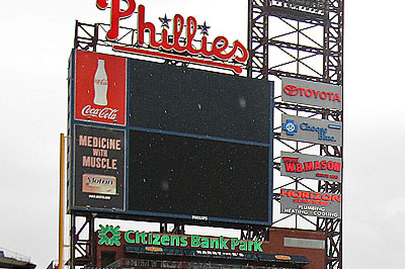 Phillies will have biggest video board in National League