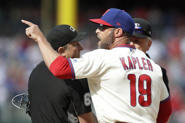 Phillies manager Gabe Kapler ejected from game against Marlins, kicks dirt on umpire