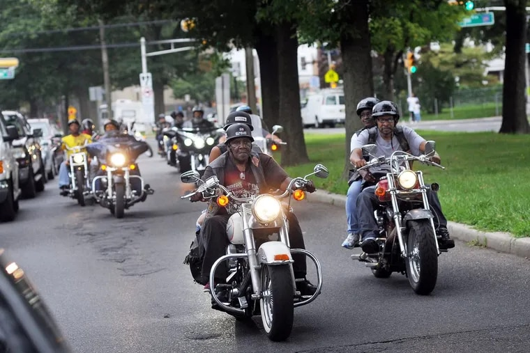 Motorcyclists on a Moving in Peace motorcade through all of Camden's neighborhoods last month to honor the victims of violence in the city.