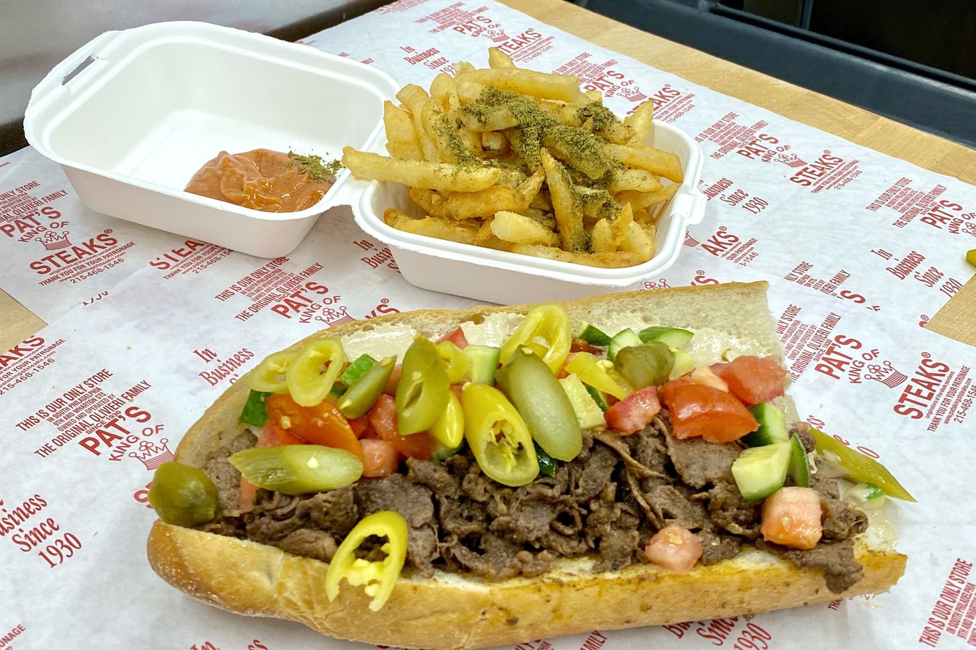 Get it while it's hot: An Israeli-style steak sandwich from Mike Solomonov and Pat's King of Steaks