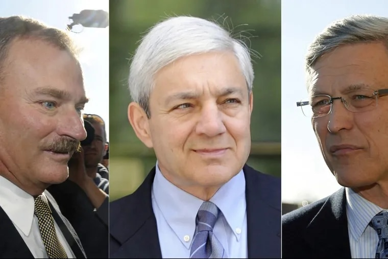 Former Penn State administrators Gary Schultz, Graham Spanier and Tim Curley will begin prison terms soon.