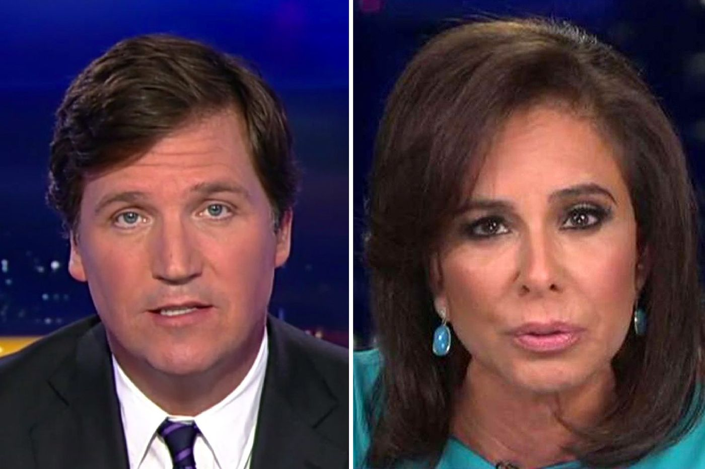 Fox News condemns host Jeanine Pirro, remains silent on Tucker Carlson