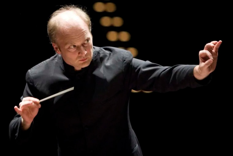 """Guest conductor Gianandrea Noseda, who led the orchestra on Thursday night in Franz Liszt's """"Mazeppa,""""as well as Sibelius and Tchaikovsky."""