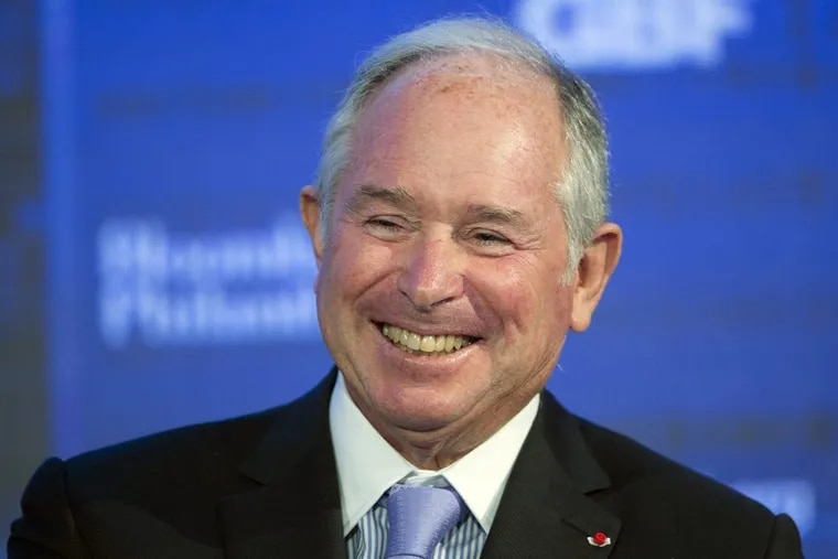 In this Wednesday, Sept. 20, 2017 file photo, Blackstone Group chairman and CEO Stephen Schwarzman speaks at the Bloomberg Global Business Forum, in New York.   (AP Photo/Mark Lennihan, File)