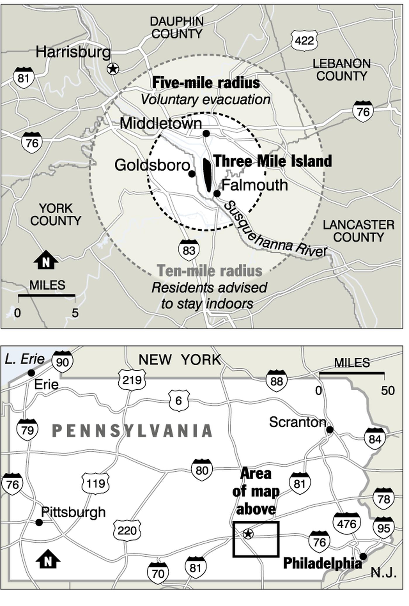 Infamous Three Mile Island reactor, shut down since 1979