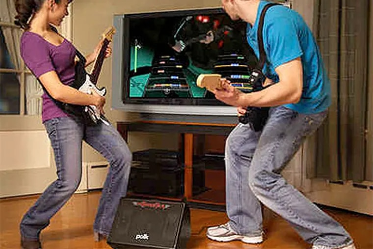 While the Guitar Hero is out of the room, the kids can use his HitMaster speaker box ($99, above).