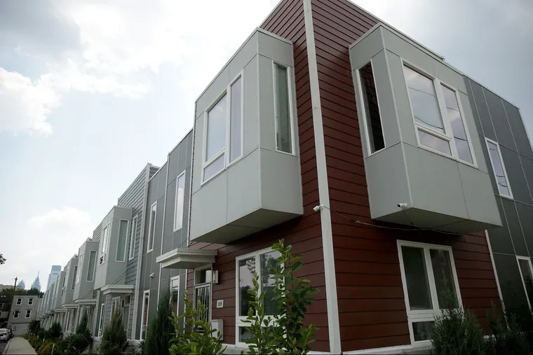 Ingersoll Commons, a group of 10 affordable homes, was recently completed at 16th and Master in North Philadelphia.
