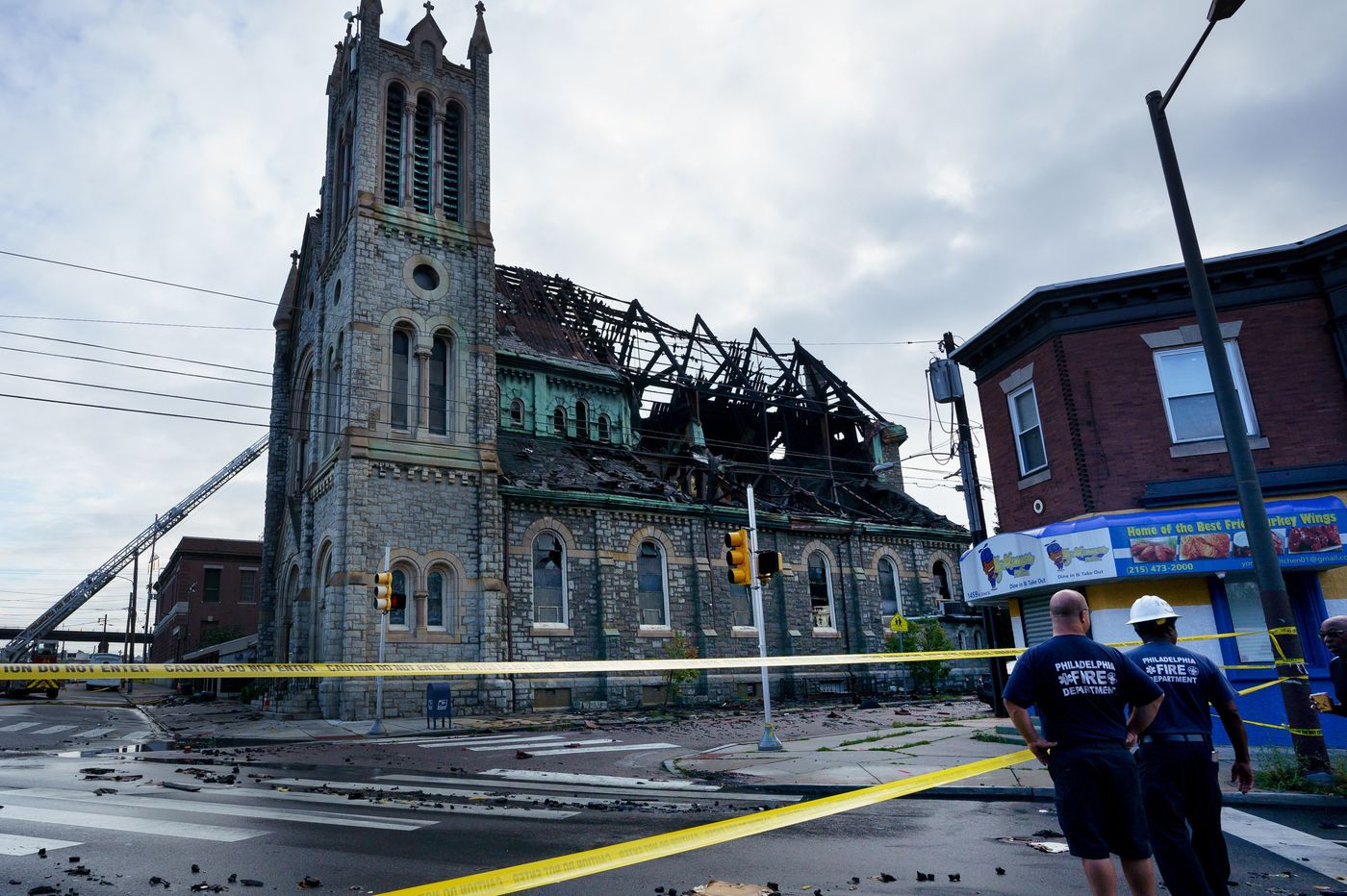 City gives OK for burned West Philly church to demolish roof