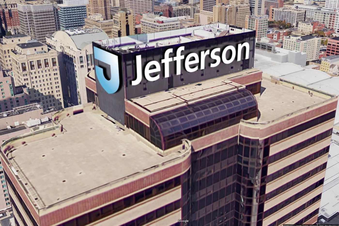 Aramark building to trumpet a new name on top: Jefferson