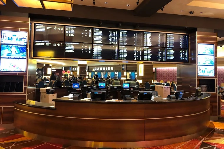 Artist rendering of the finished sports book at the Tropicana in Atlantic City. A temporary 'book is could open by Thursday.