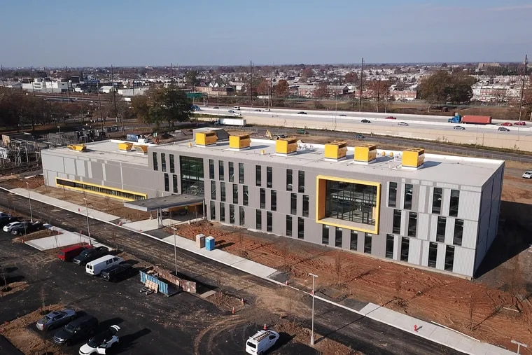 The new MaST II building along the Delaware River in Tacony.