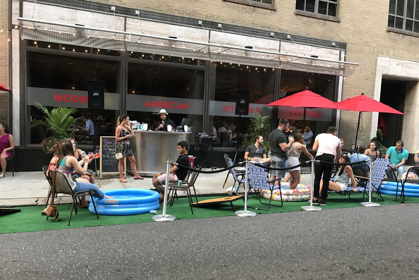 Has Philly hit peak pop-up? Vacant lots, valet parking lanes - and, now, The Median