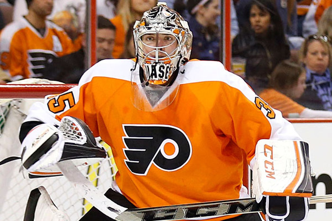 Flyers' Mason works out, but it's still unsure he will play