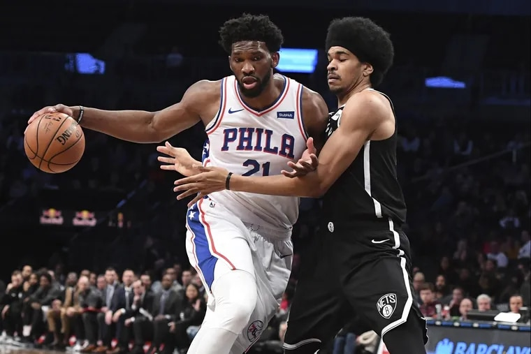 Philadelphia 76ers center Joel Embiid ended the night with 16 points,15 rebounds, 4 ast. and 1 blk. in the Sixers 122-97 loss.