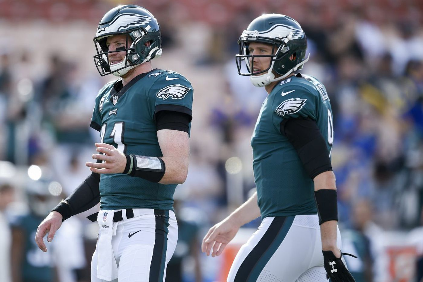 Carson Wentz and Nick Foles both started slowly for Eagles   Marcus Hayes