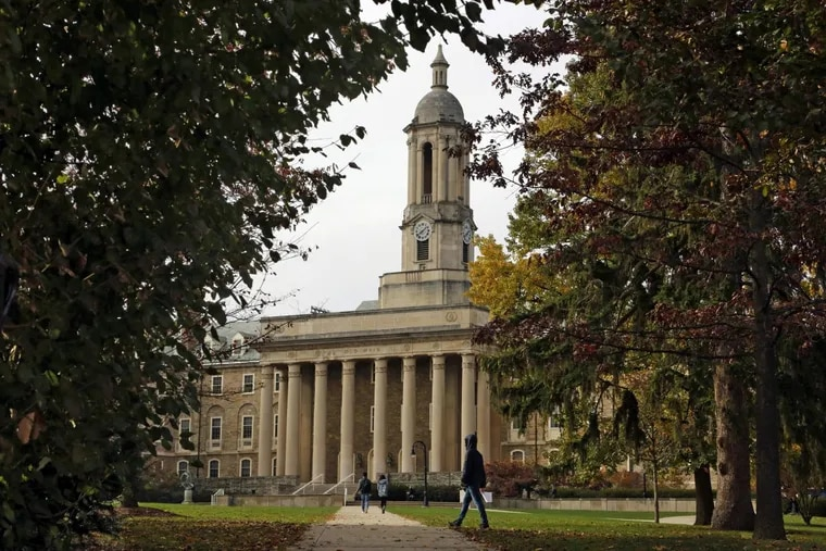 This is Old Main on the Penn State University main campus in State College, Pa. State universities were among those given a negative financial outlook by Moody's on Tuesday.