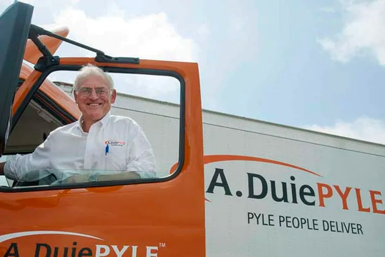 Peter Latta, 58, chairman and CEO of A. Duie Pyle trucking company in West Chester. (CLEM MURRAY/Staff Photographer)