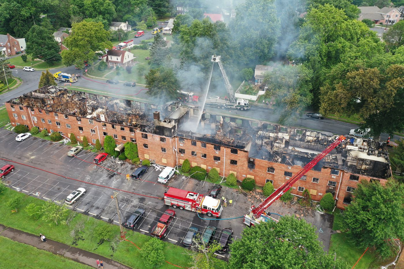 Major fire destroys apartment complex in Chester County