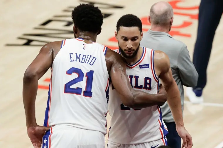 """Joel Embiid says the return of Ben Simmons would be an adjustment but """"it doesn't need to be awkward."""""""