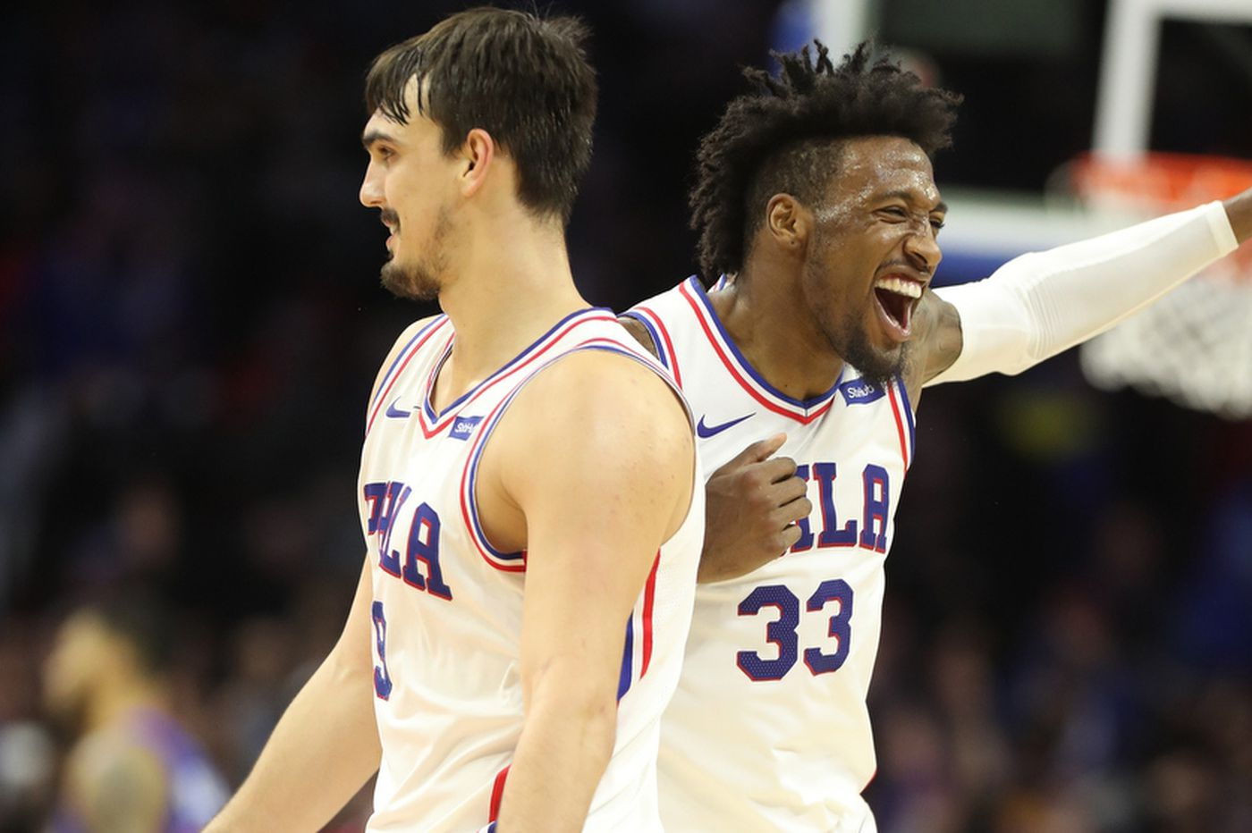 Video: Sixers pay tribute to Dario Saric, Robert Covington in their first game back in Philly