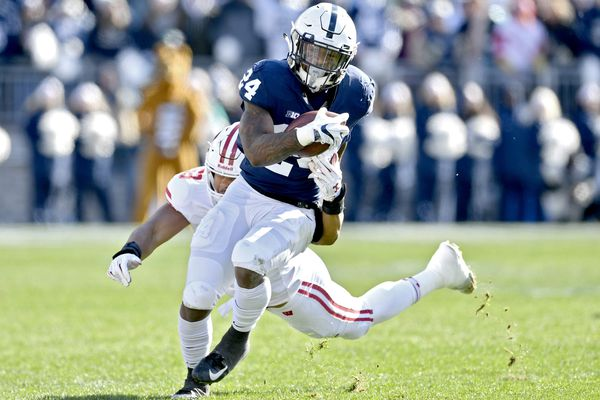 Penn State's Miles Sanders has grown as a runner and as a leader