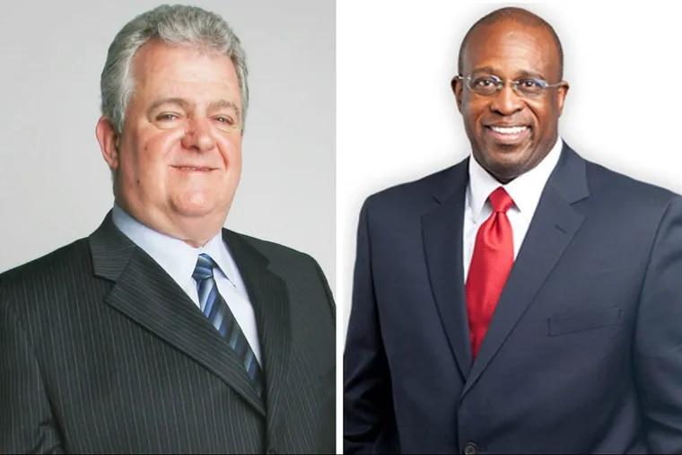 U.S. Rep Bob Brady (left); former Philadelphia Municipal Court Judge Jimmie Moore (right)