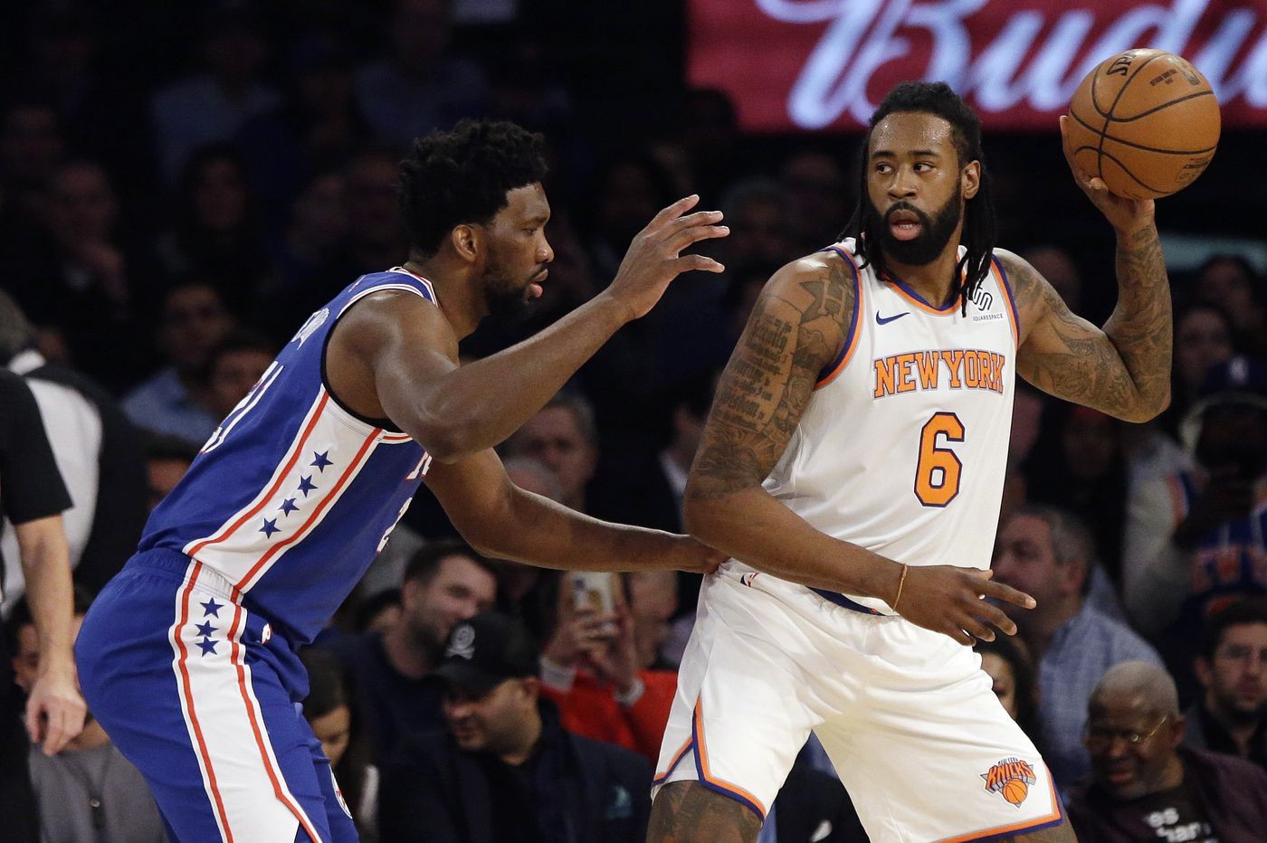 Sixers stop Knicks' second-half surge and win, 126-111