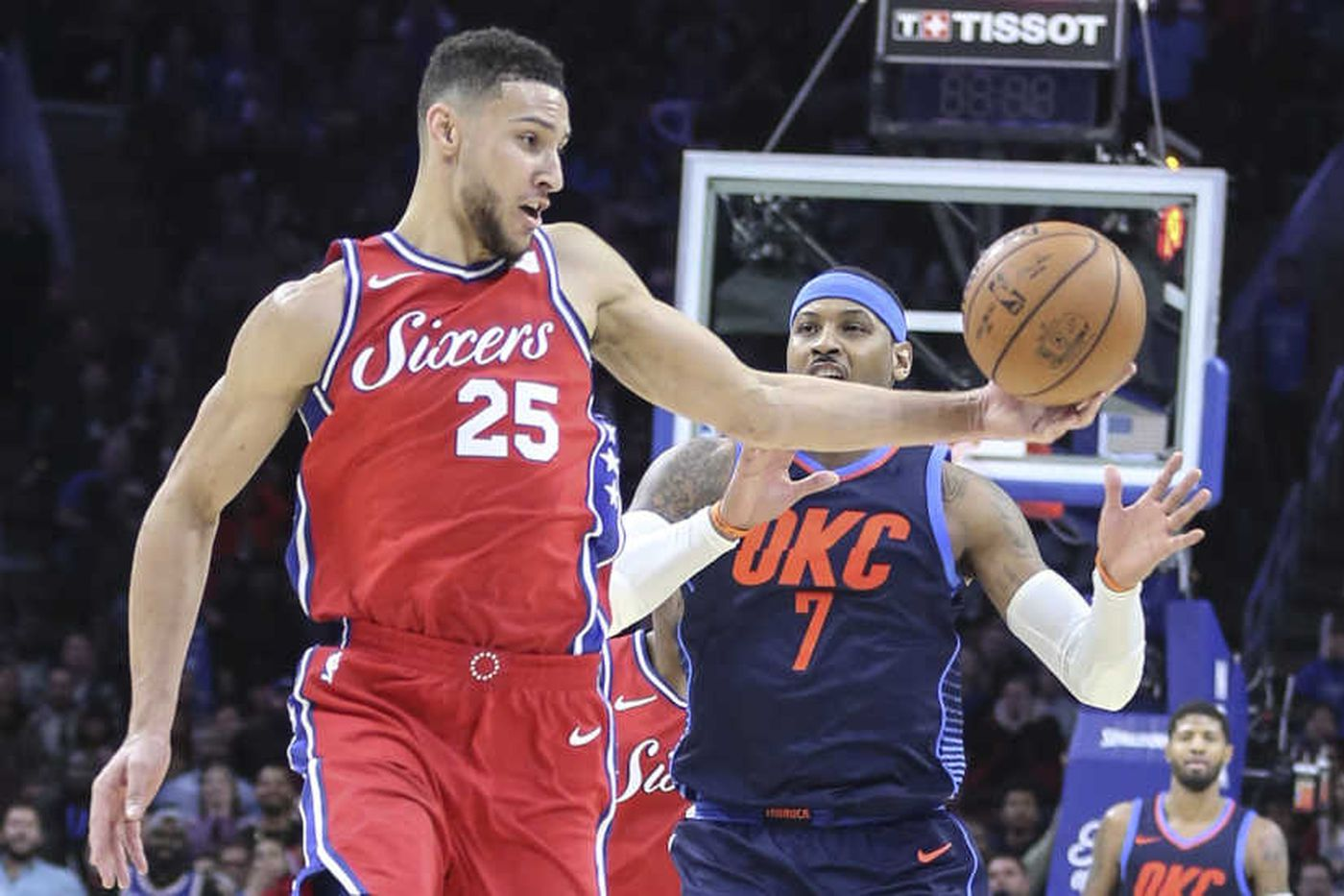 Sixers-Thunder: Russell Westbrook battles Joel Embiid and Ben Simmons, and other quick thoughts from a 119-117 triple-overtime loss