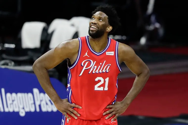 Joel Embiid is third in the Eastern Conference frontcourt voting in the second fan returns for the NBA All-Star Game.