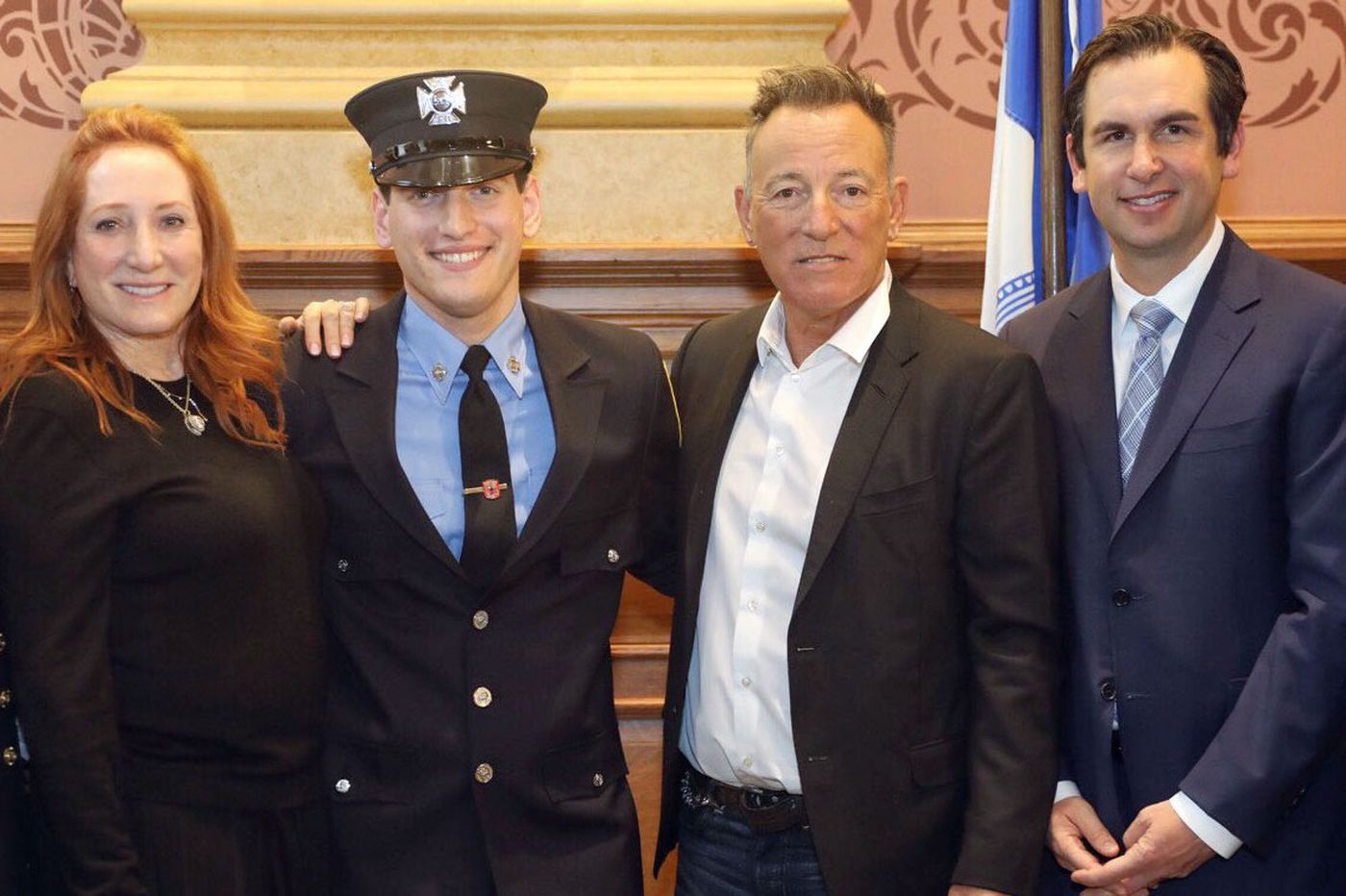 Bruce Springsteen's son is now officially a Jersey City firefighter