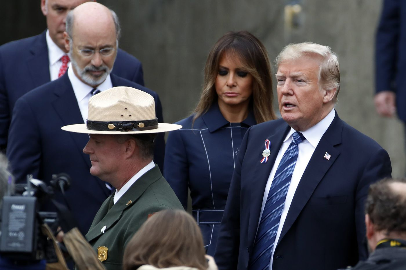 Trump visits Flight 93 memorial on 9/11: 'They entered eternity as heroes'
