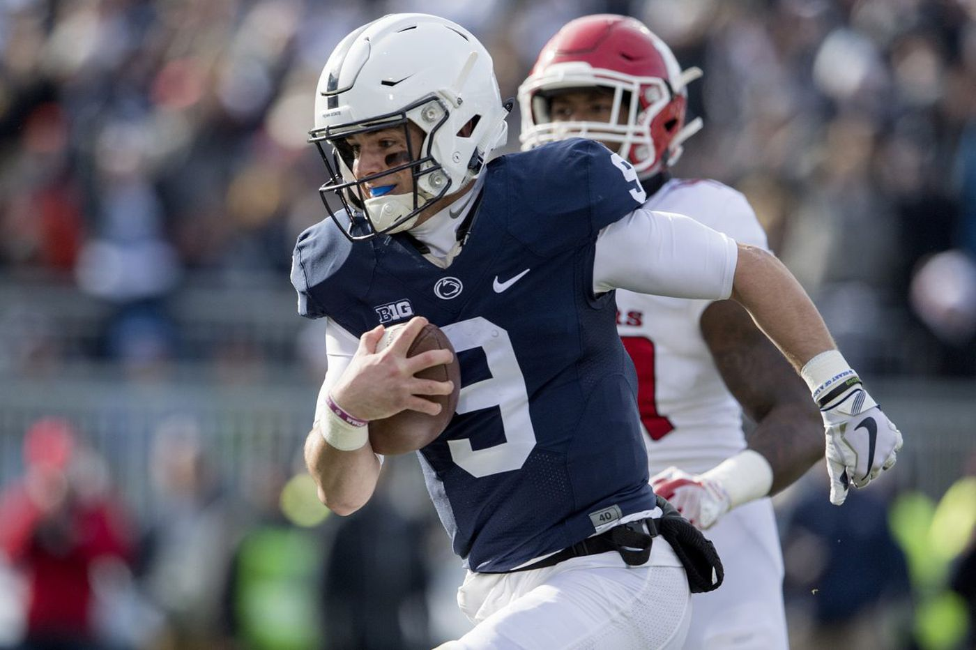 Trace McSorley, a junior, emotional about Penn State senior day