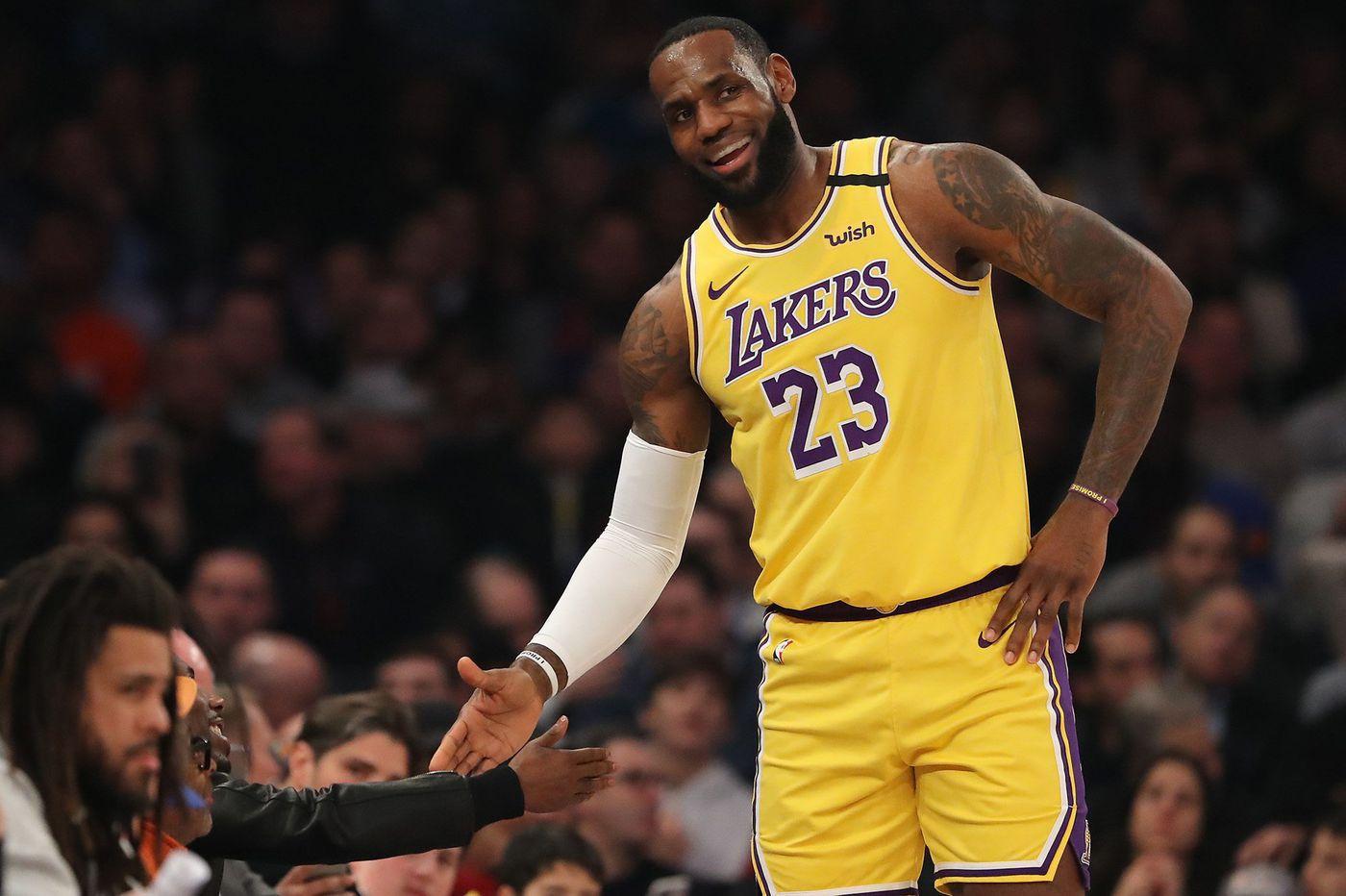 LeBron James enjoying full-time role as Los Angeles Lakers ...Lebron James Knicks Uniform