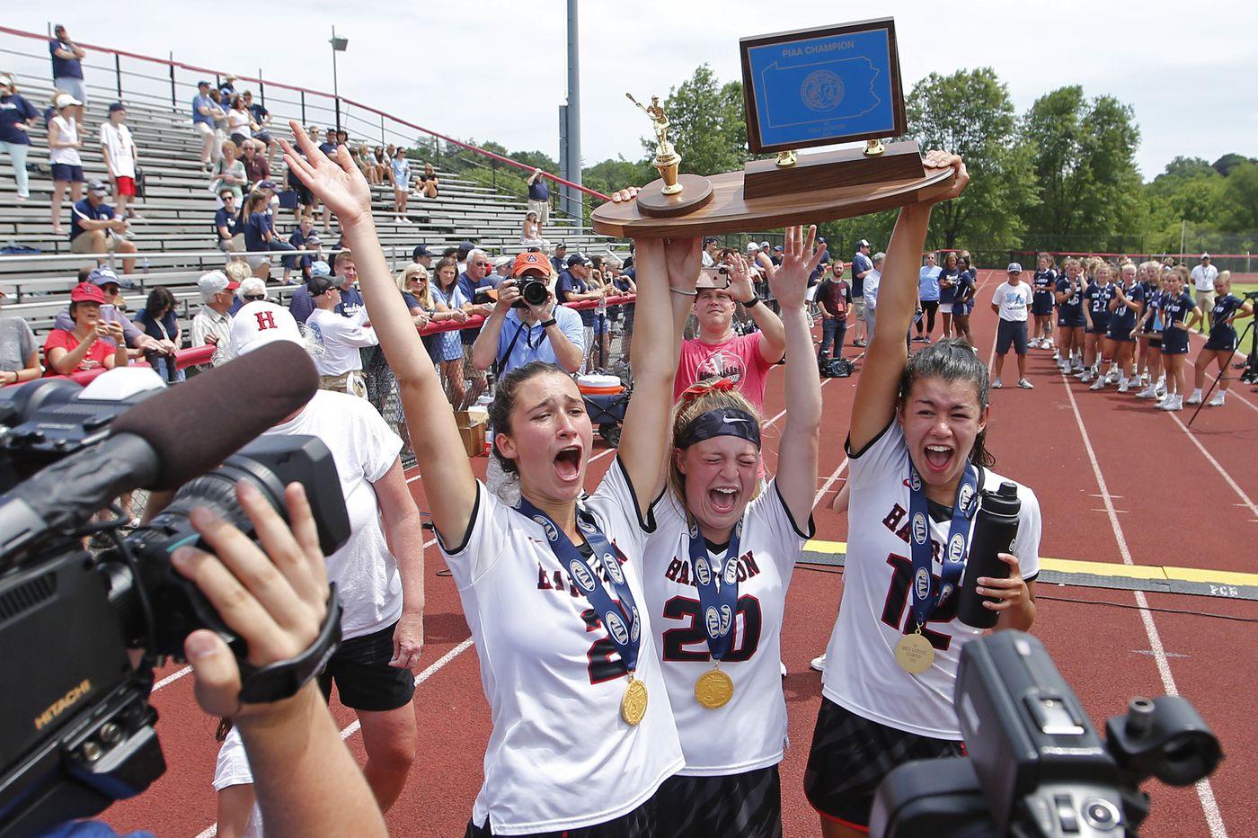 Harriton pulls away to win girls' Class 3A PIAA state lacrosse championship