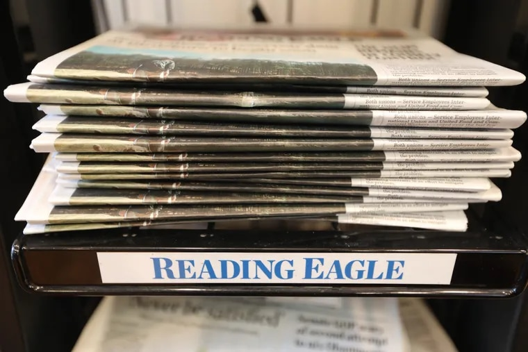The Reading Eagle, which has filed for bankruptcy Friday April 5, 2019. DAVID SWANSON / Staff Photographer