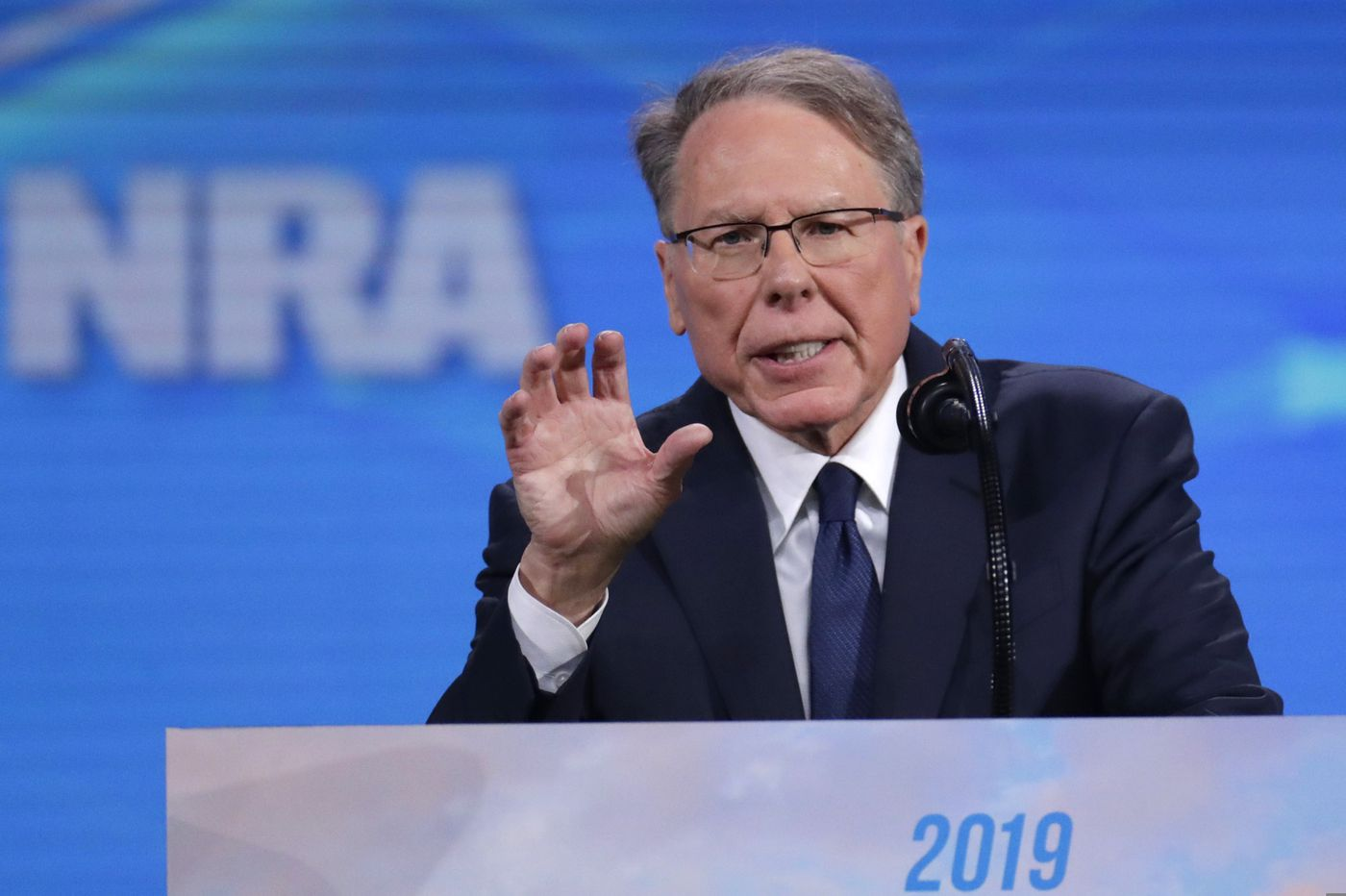NRA's Wayne LaPierre says Oliver North is extorting him