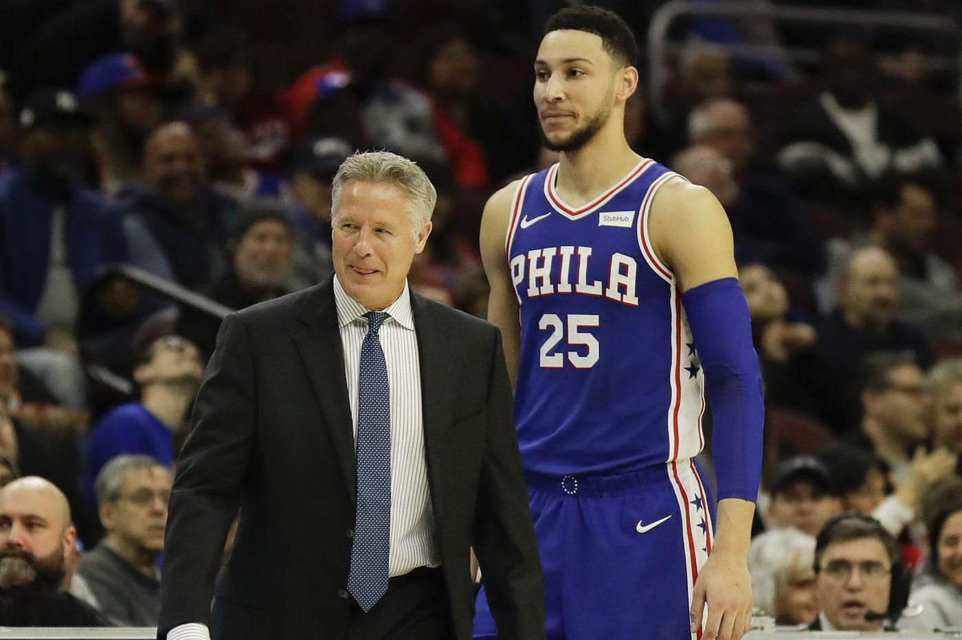 Sixers' coach Brett Brown is mulling Ben Simmons' career path