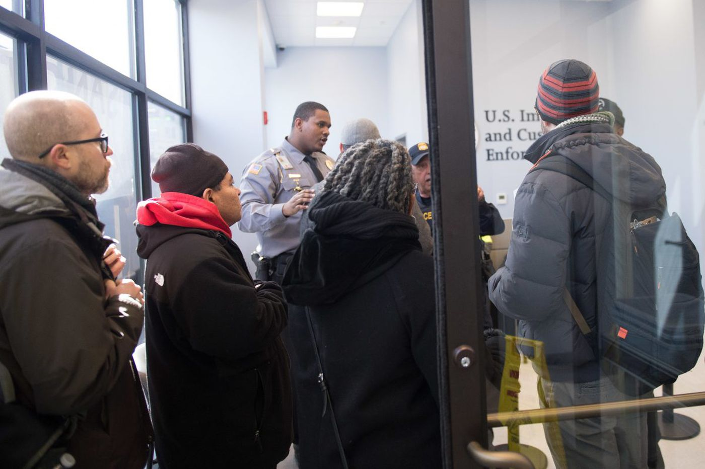 In an ICE lobby in Center City, a microcosm of immigration battles