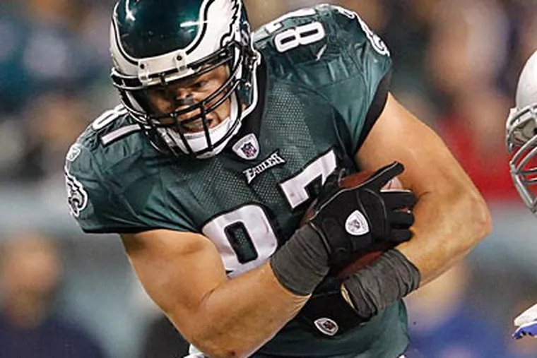 """""""This is our chance to prove that we can play,"""" Eagles tight end Brent Celek said. (Ron Cortes/Staff Photographer)"""