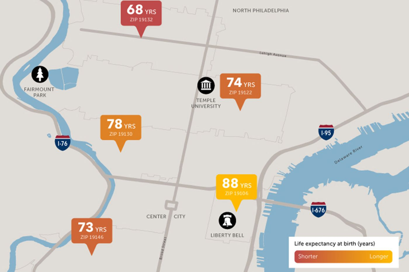 How your neighborhood can impact your life expectancy in Philadelphia