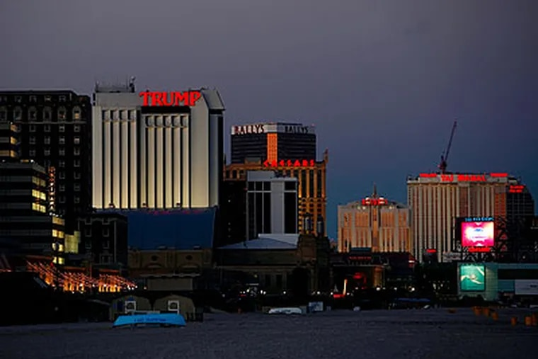 The Atlantic City skyline as seen from the south. Has the sun finally set on A.C. after having a 30-year monopoly on legalized gambling in all of New Jersey? A state senator sure thinks so. (Eric Mencher / Staff Photographer)