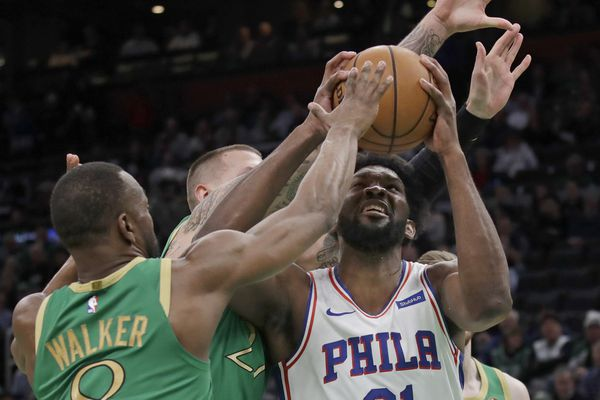 Joel Embiid leads the Sixers to a 115-109 statement victory over the Boston Celtics